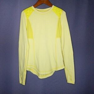 Lululemon Ice Queen Top Yellow Striped SZ 4